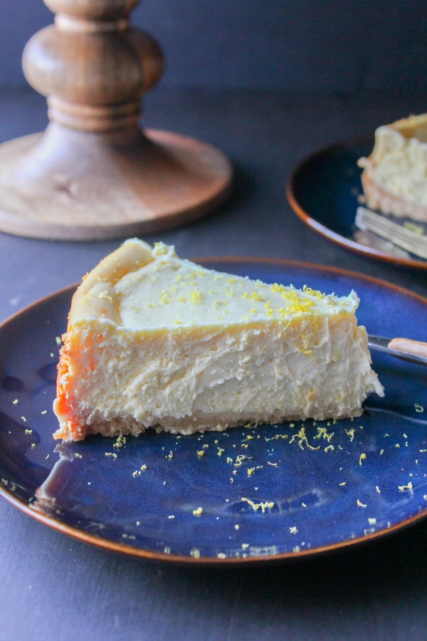 Light and luscious, perfectly sweet and tart, this Lemon Cheesecake with Shortbread Crust is the perfect addition to your spring menu!