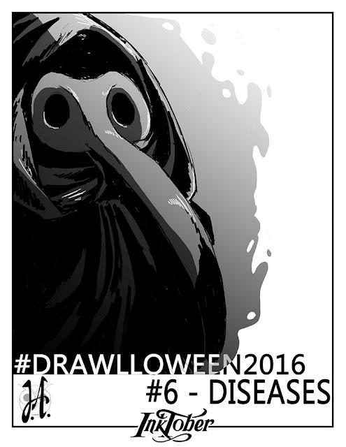 diseases-drawlloween-inktober-lucyowlart