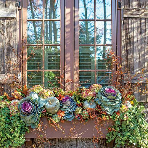 Fall Window Box: NANA DIANA TAKES A BREAK: FINISH IT UP FRIDAY- Five Fall