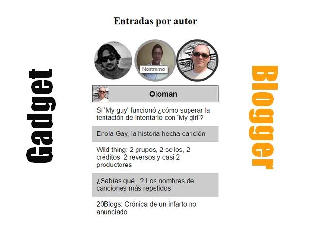 Gadget autores para Blogger