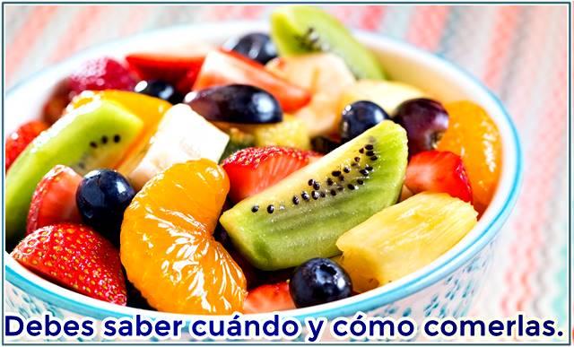 Las ensaladas de frutas debes aprender a consumirlas para que no te hagan engordar