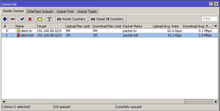 Cara membuat limitasi untuk memisahkan bandwidth lokal dan internasional di simple queue mikrotik