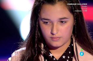 Rocío Aguilar canta Sola de Diana Navarro la voz kids equipo orozco
