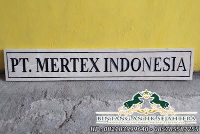 Prasasti Marmer Surabaya | Prasasti Papan Nama