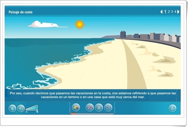 """""""Paisaje de costa"""" (Actividad interactiva de Ciencias Sociales de Primaria)"""
