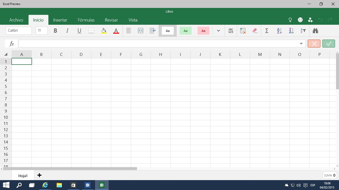 Computacion Pantalla De Inicio Excel