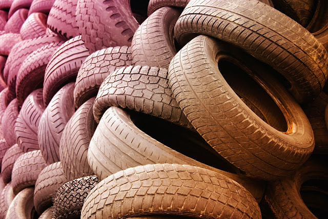 Stack of Tyres Image
