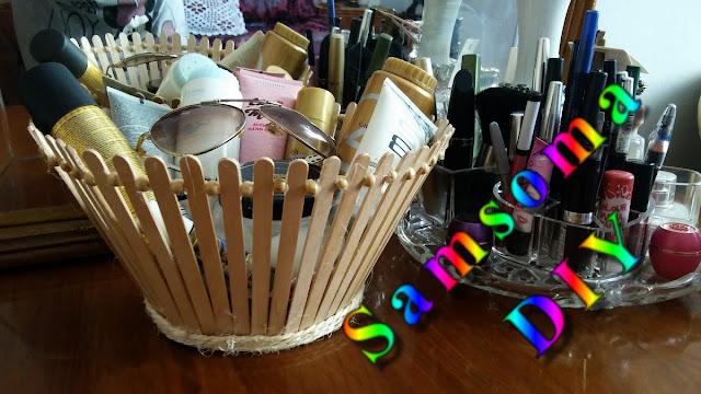 صنع سلة خبز .  صنع سلة للخبز من اعمواد الايس كريم الخشبية . صنع سلة  . DIY How to Make a Basket . ¿Cómo hacer la cesta .