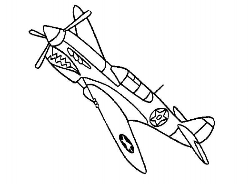 Gambar  Mewarnai Pesawat  Tempur Anak Gambar  Hitam  Putih  di