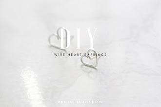 DIY Wire Heart Stud Earrings