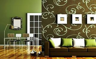 Gambar Wallpaper Dinding Rumah MInimalis Untuk Ruang Tamu