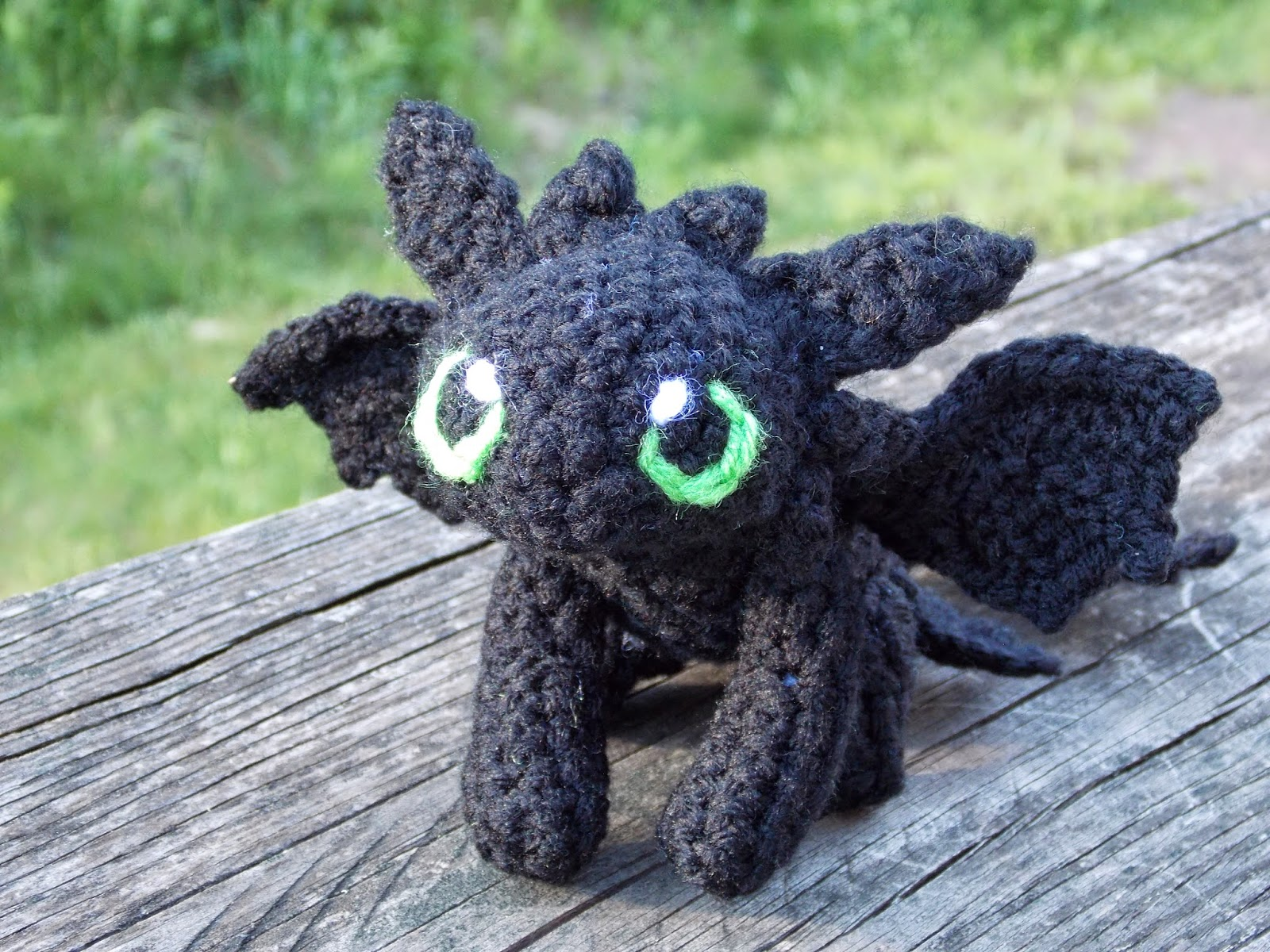 Drache Stofftier Great Grey Crochet: Baby Toothless!