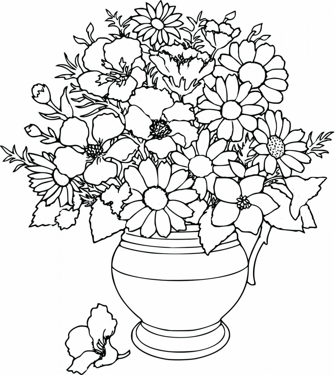 Simple Flower Coloring Pages Free ~ Cute Printable