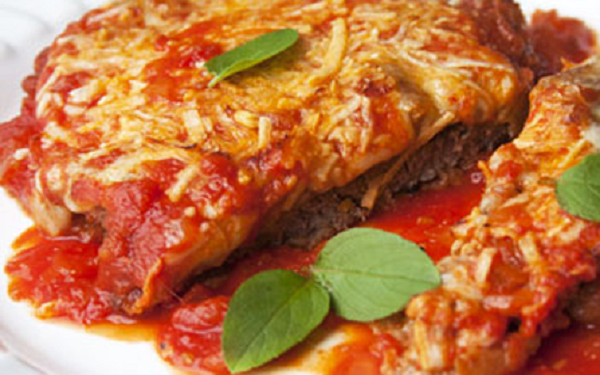 Receita de bife de soja à parmegiana (Imagem: Reprodução/VipFácil)