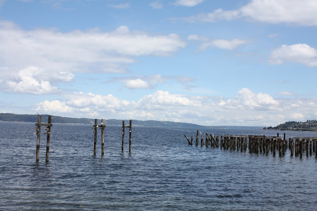 Picturesque waterfront view from Ruston Way Tacoma, Washington