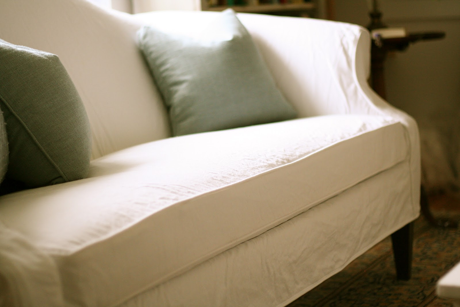 White Camel Back Couch