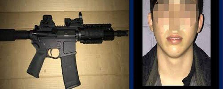 Capturan a  joven con fusil de asalto, lo ocultaba en un estuche para guitarra