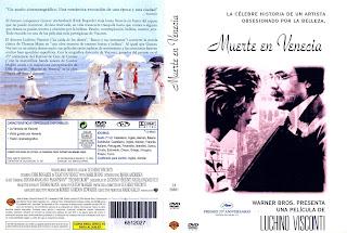 Carátula dvd de la película Muerte en Venecia