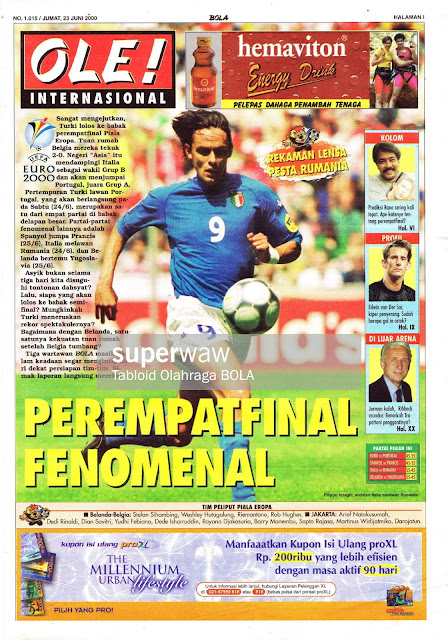 FILIPPO INZAGHI ITALY FOOTBALL NEWS EURO 2000