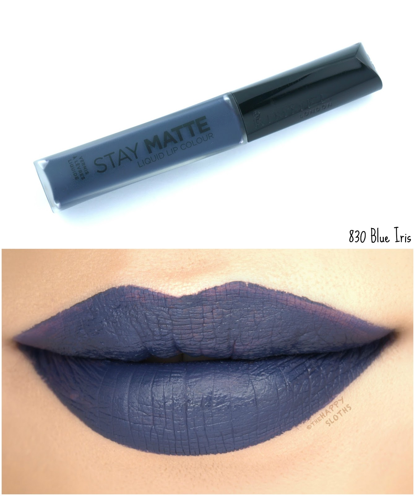 Rimmel London Stay Matte Liquid Lip Colour | 830 Blue Iris: Review and Swatches