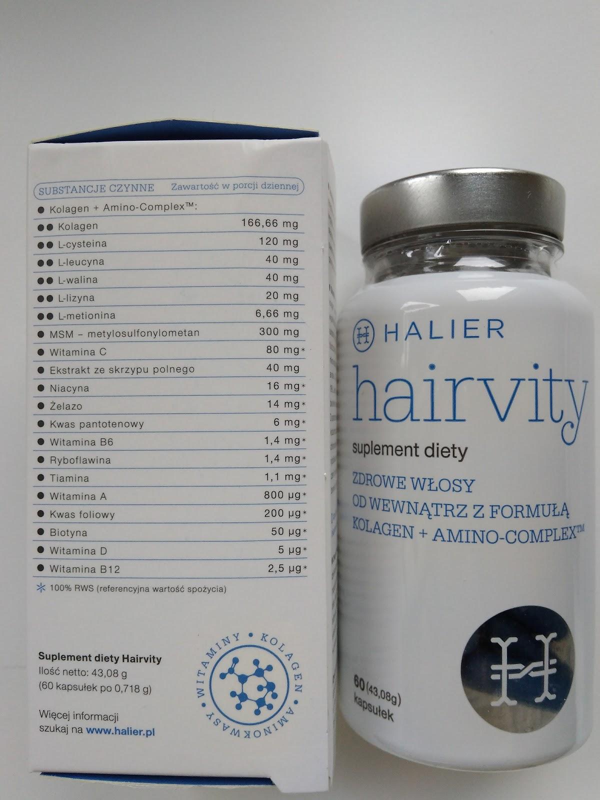 Hairvity skład tabletek