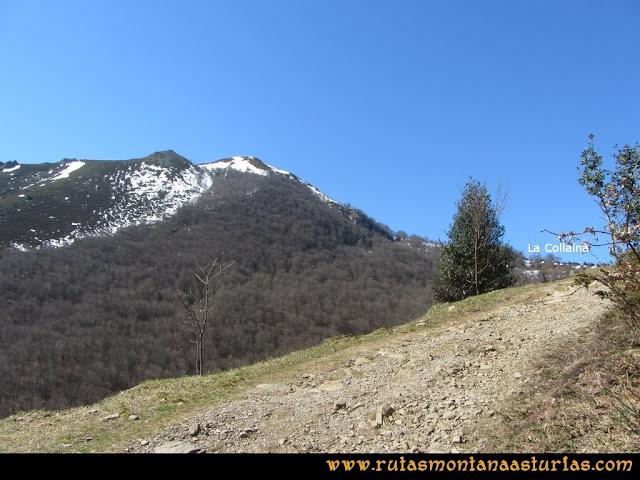 Ruta Belerda-Visu La Grande: Pista finalizando en la Collaína