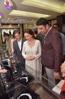 Actress Madhuri Dixit Pictures in Designer White Salwar Kameez at PNG Jewelers Launch  0001
