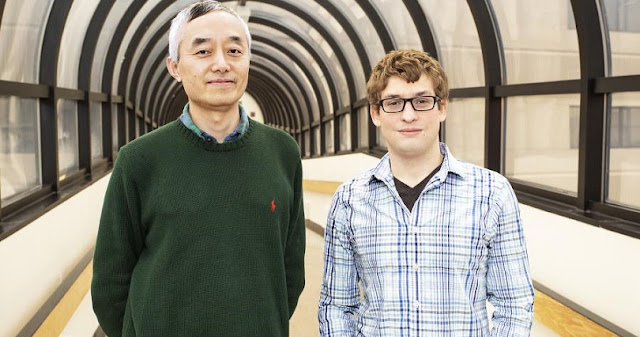 Physicists Jonathan Jara-Almonte, right, and Hantao Ji, coauthor and adviser. Credit: Elle Starkman/Office of Communications
