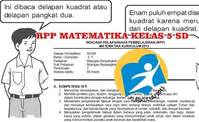 RPP Matematika Kelas 5 SD Kurikulum 2013 Revisi Semester 1