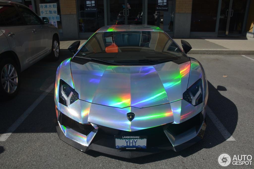 Lamborghini Aventador Spotted In Mind-Warping Holographic Wrap on wrapped laferrari, wrapped pagani huayra, wrapped ford fiesta, wrapped lincoln navigator, wrapped bugatti, wrapped jaguar xj, wrapped ford edge, wrapped ford excursion, wrapped mercedes cla, wrapped toyota sienna, wrapped nissan gt-r, wrapped jaguar xf, wrapped jeep wrangler, wrapped jeep grand cherokee, wrapped toyota supra, wrapped lamborghini gallardo,