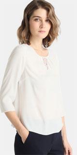 blusa blanca con manga francesa y hombreras 2018