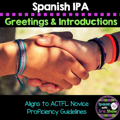 Spanish IPA Greetings, Introductions, and Small Talk. Intro Unit IPA for Spanish Level 1