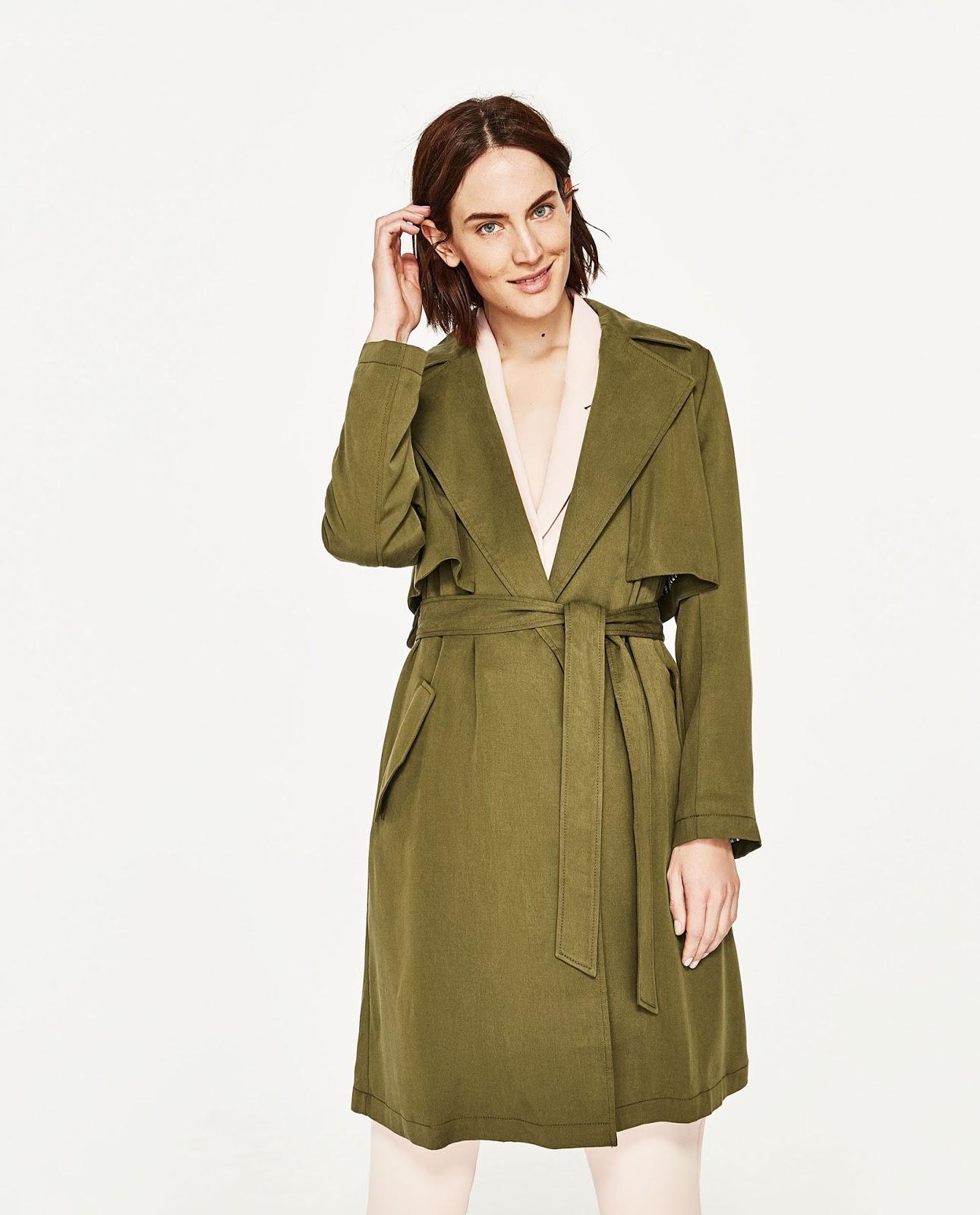 ZARA luźny płaszcz trencz, płaszcz militarny, wyprzedaż Zara, porady stylistki