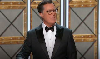 Host Stephen Colbert Blasts Trump's Obsession With the Emmys
