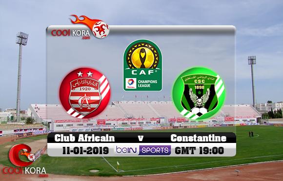 مشاهدة مباراة النادي الإفريقي وشباب قسنطينة اليوم 11-1-2019 دوري أبطال أفريقيا