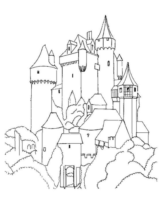 Tranh cho bé tô màu lâu đài 15