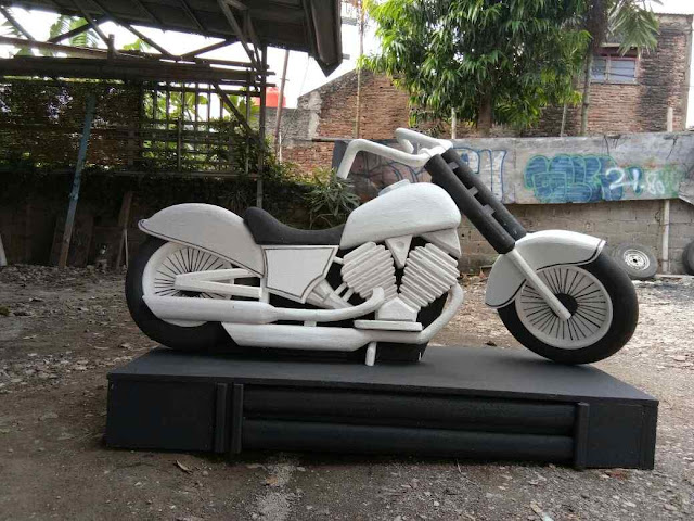 Custom Patung Replika dummy mock up Styrofoam bentuk Moge (Motor Gede) Harley Davidson