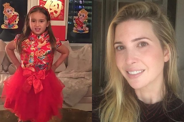 5-year-old daughter Ivanka trump made waves in Chinese social networks