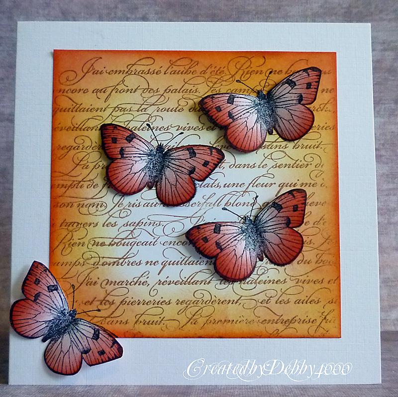 Картинки, открытка своими руками с бабочками и цветами