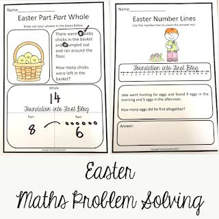 easter, paper, chick, techteacherpto3, foundation into first, template, download, teaching, teachers pay teachers, math, problem, solving, word, problems