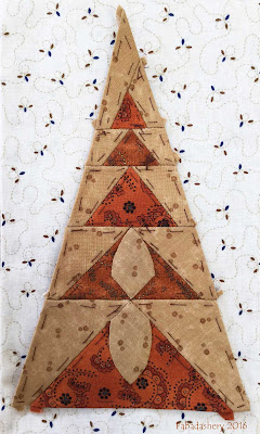 Dear Jane Quilt - Border Triangle Block TR13 Eiffel Tower