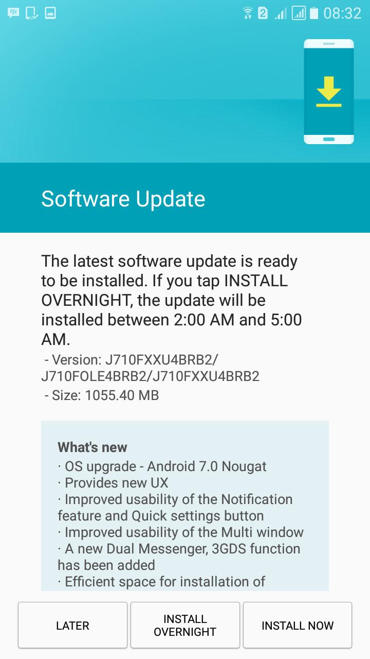 Install Nougat Samsung Galaxy J7 2016 J710FN Indonesia