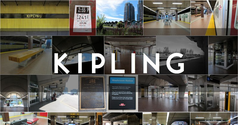 Photo gallery of the TTC's Kipling subway station in Toronto, Ontario