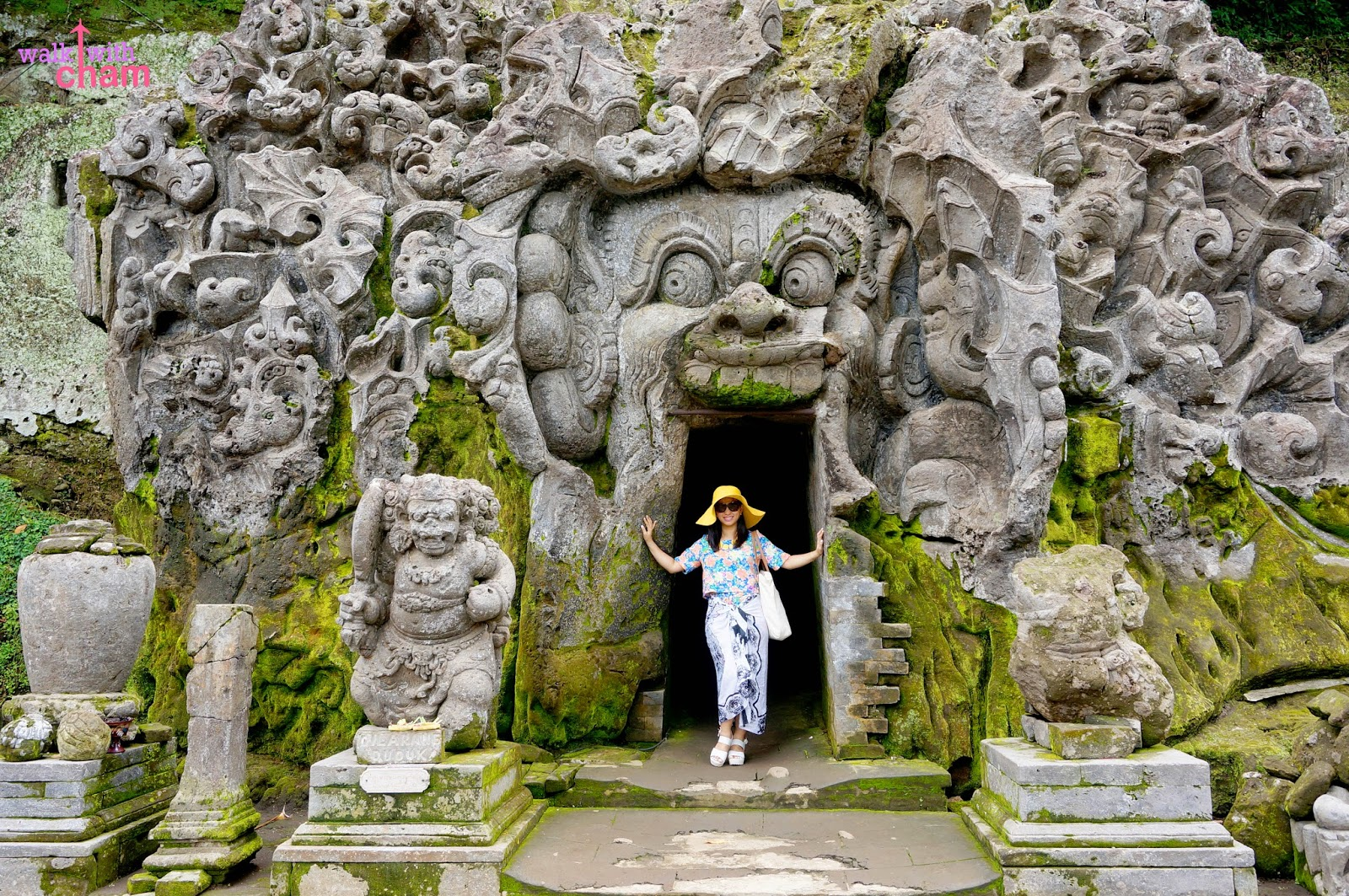 Home Entrance Walk With Cham Goa Gajah Bali Indonesia