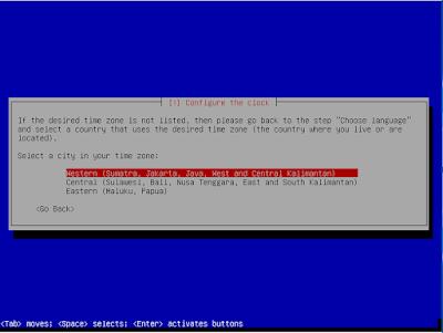 Konfigurasi Zona Waktu Installasi Debian 8