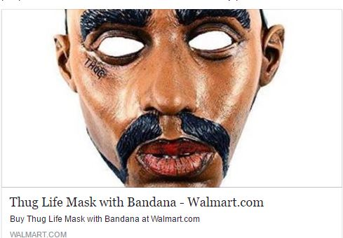 Black Chick A Little Rocked Thug Life Mask At Walmart