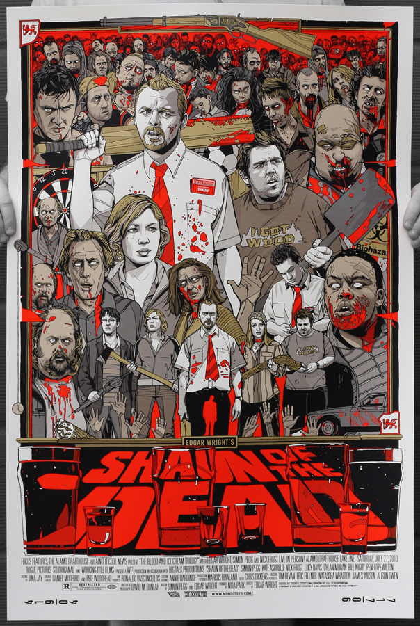 Shaun of the dead tyler stout poster lottery sale details