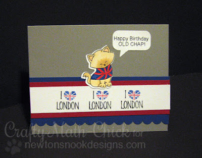 London Lovers Birthday card by Crafty Math Chick | Newton Dreams of London by Newton's Nook Designs