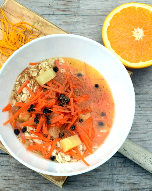 Carrot & Fruit Oatmeal Slump, another healthy vegan breakfast ♥ A Veggie Venture