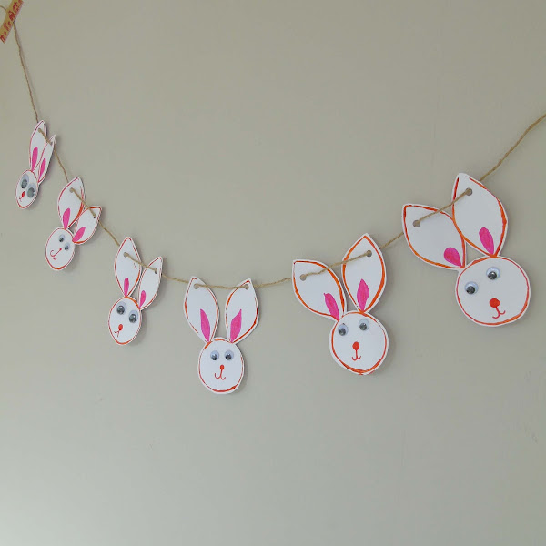 How to create Easter Bunny Bunting using toilet roll tubes